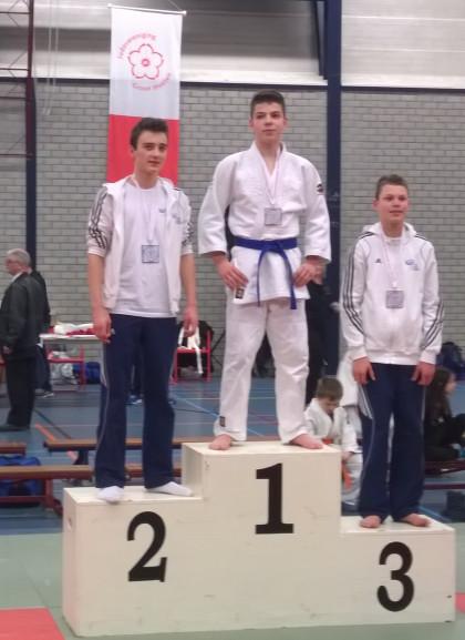 Een podium vol TJU judoka's!
